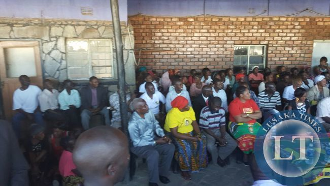 HH with with UPND constituency officials