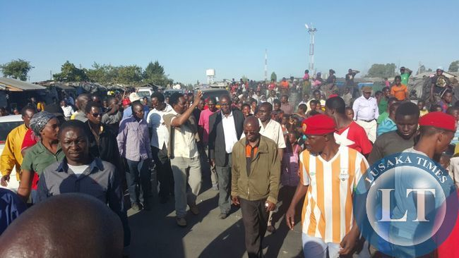 Matero residents that lined-up for HH