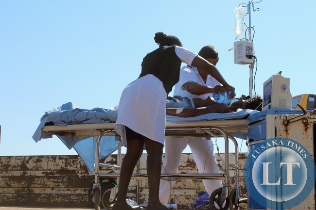 Lewanika General Hospital Critical Care Nurses wins the best display award during Labour Day Celebrations in Mongu on Friday.