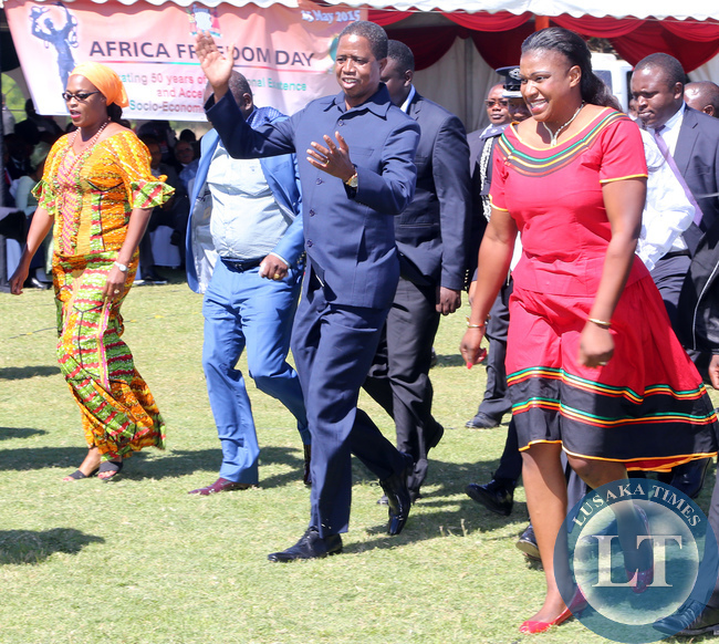 President Lungu at Freedom Ceremony