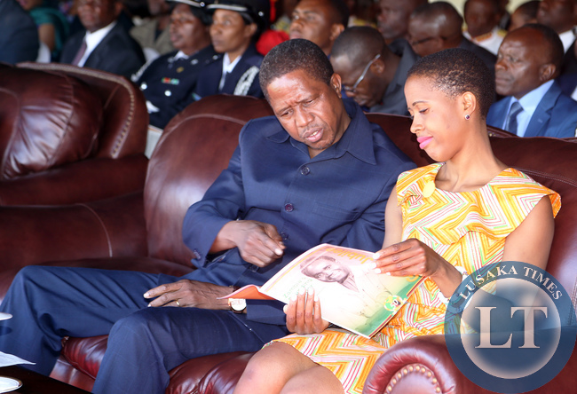 President Lungu with daughter Tasila at Statehouse