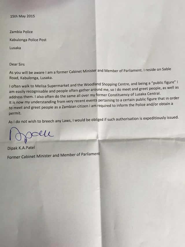 dipak letter