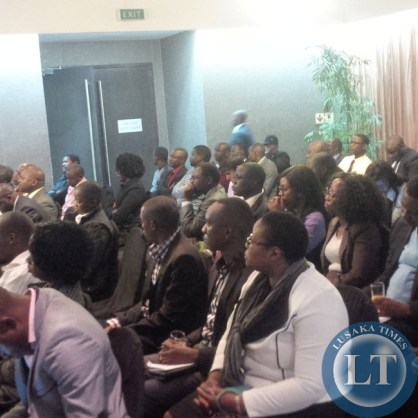 Members of the audience following the discussion last  evening at Hotel Intercontinental