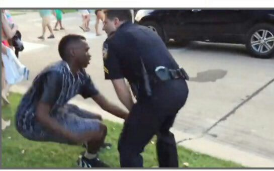 Zambian teenage boy being harassed by police in Mckinley Texas in a racist incidence.The police office resigned after his  behaviour came to light