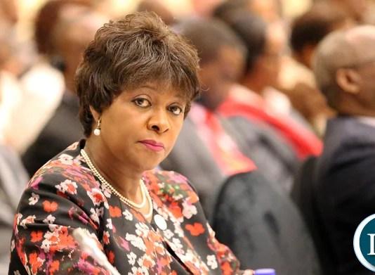 Finance Minister Margaret Mhango Mwanakatwe