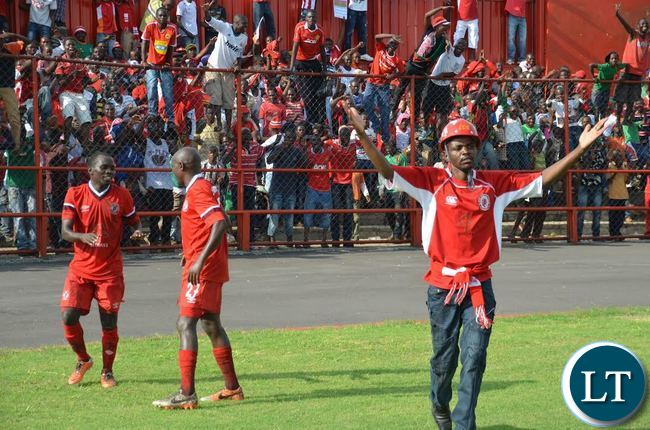 Nkana Supporter invades the Football Pitch