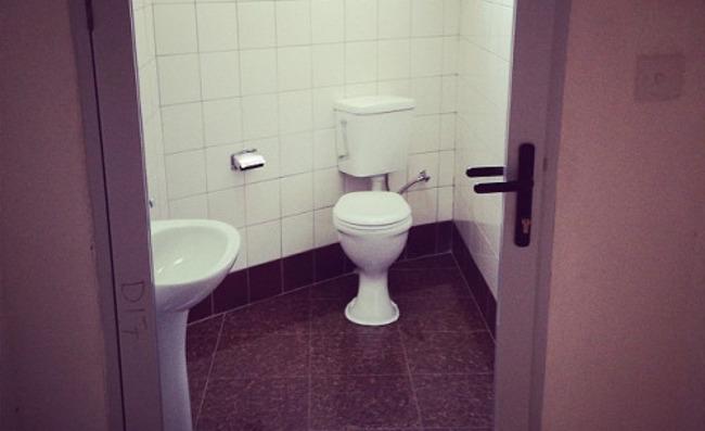 Public toilet at KK International Airport in Lusaka