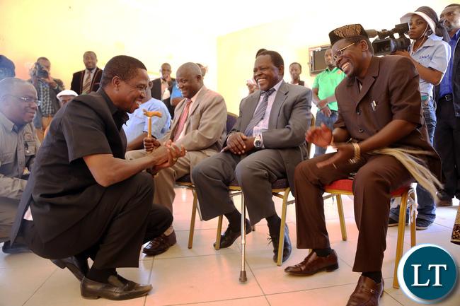President Lungu Greets Chief Simamba