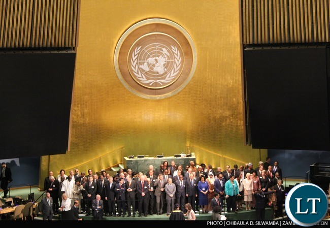 The Fourth World Conference of Speakers of the Parliament at UN Headquarters in New York on Monday  31stAugust 2015. PHOTO   CHIBAULA D. SILWAMBA   ZAMBIA UN MISSION
