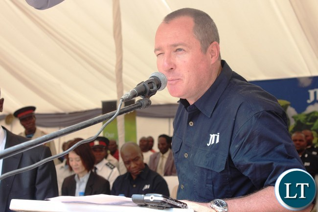 JAPAN Tobacco International (JTI) General Manager, Mike Roach, speaking during the official handover of a health post at Dwankhozi in Chipangali constituency which the company constructed for the community in the area as part of the Social Corporate Responsibility.