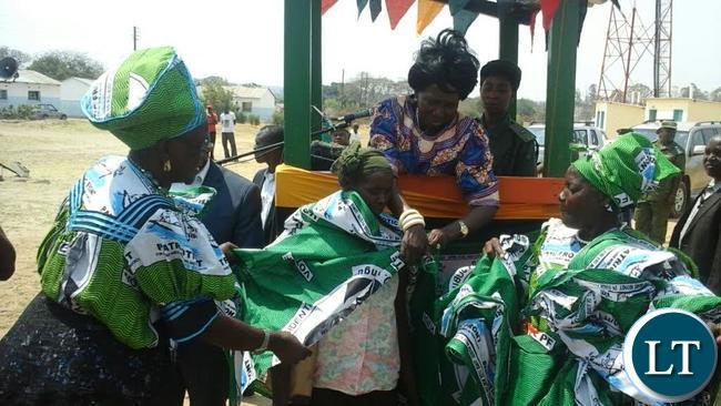 Inonge Wina Distributing PF campaign material