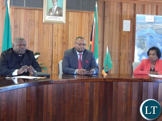 Mr. Mulusa, His Excellency Mr. Mwamba, and Deputy High Commissioner, Ms. Philomena Kachesa during the meeting