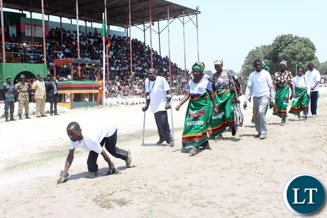 The Zambia Agency for Persons with Disabilities joins in the 51st Independence Anniversary celebrations at Mongu Sports Stadium