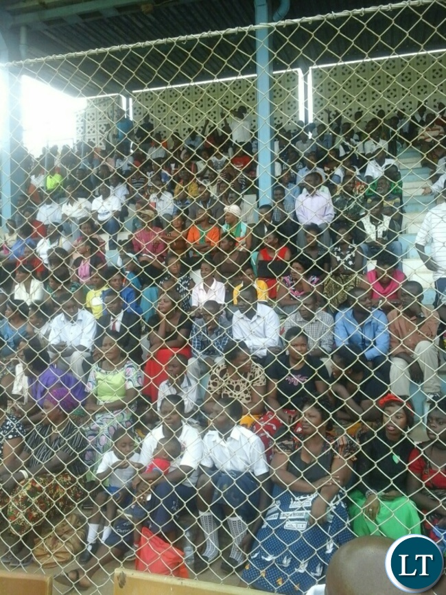 Part of the crowd attending the national fasting and prayers at the railways ground in kabwe