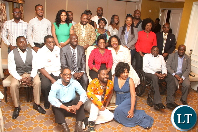 First Lady Esther Lungu pose for a photograph after a meeting with Zambian's living in Dallas at Rosewood Mansion On Turtle Creek Hotel in Dallas, Texas on Wednesday evening, September 23, 2015 -Picture by THOMAS NSAMA