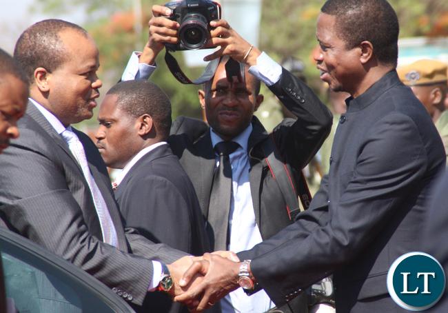 President Lungu welcoming King Mswati
