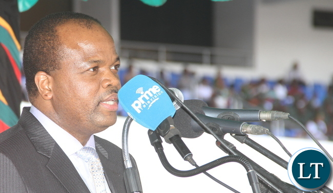 King Mswati of Swaziland  delivering  his speech during Zambia's 51st Independence anniversary Celebration at Heroes Stadium in Lusaka on Saturday, October 25,2015 -Pictures  by   THOMAS NSAMA