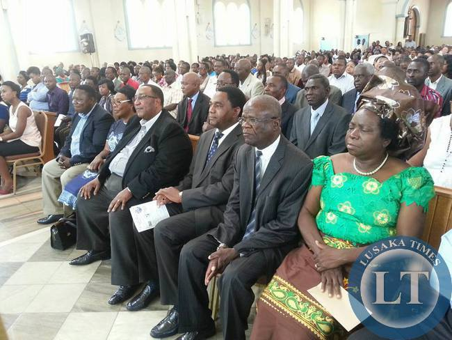 UPND leaders attended prayers at St. Ignatius Catholic Church on the National day of prayer and Fasting