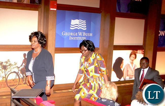 First Lady  Esther Lungu during the opening of the Global Network Women's Summit at  George W. Bush Presidential Centre in Dallas, Texas on Tuesday, September 22,2015 -Picture by THOMAS NSAMA