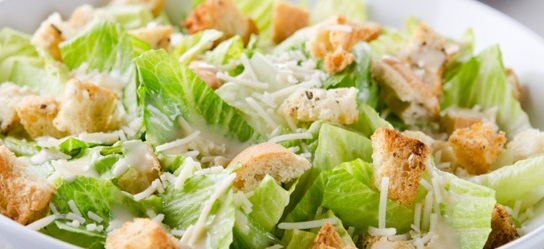 healthy caesar salad. 6
