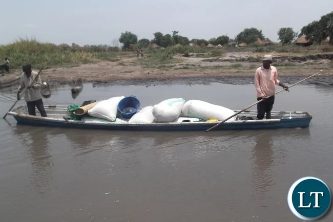 Transporting mealie meal from Samfya to Lunga is always a challenge because one should plan for hours on the water before the commodity could reach the area. The entire district has no road and everyone depends on water ways to bring mealie meal to the people in the area.