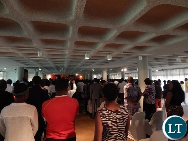 The inter-denominational prayer service was presided over by Pastor Gideon Kapafu of Bread of Life, Midrand, South Africa.