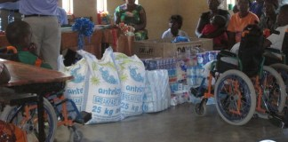 MULONGA Water and Sanitation Company (MWSC) donated assorted items of mealie meal and groceries to three selected charity organizations on copperbelt