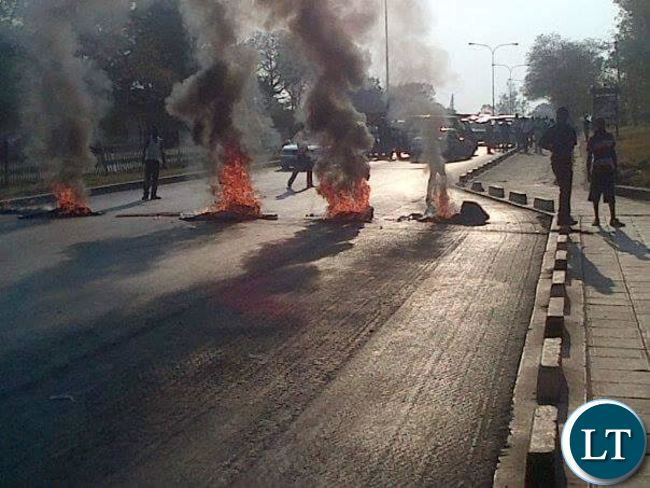 Protesting Students at UNZA