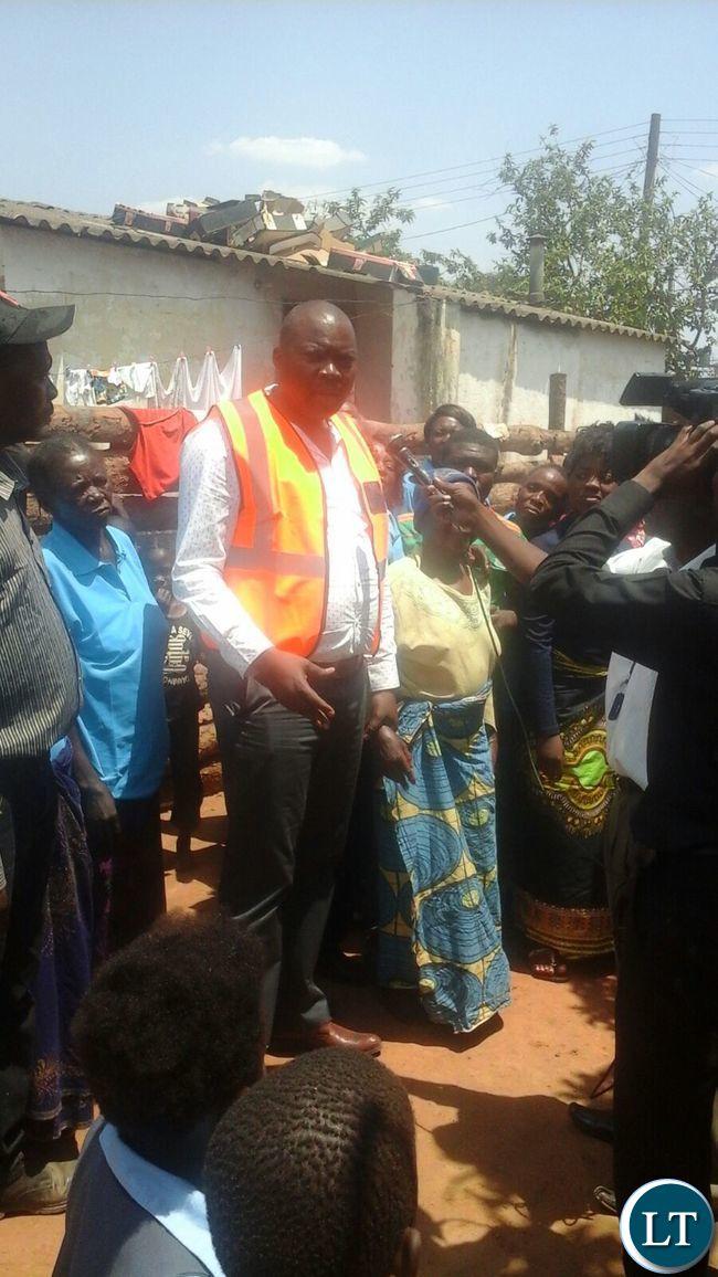 Bowman Lusambo with Masala residents