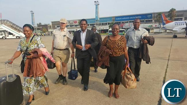 HH with Maureen Mwanawasa at KKIA