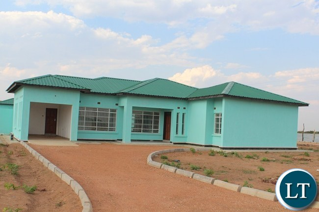 ONE of the eight high cost houses under construction for provincial administration officers in Choma is almost completed.