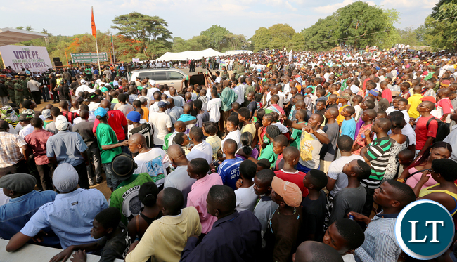 Pf Rally in Kitwe at Freedom Park on Saturday