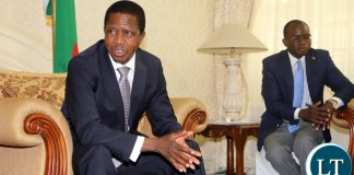 President Edgar Lungu held meeting with An International Monetary Fund (IMF) team led by Tsidi Tsikata who is division chief African department in Washingston at State house. Picture By Eddie Mwanaleza/State house.20-11-2015.