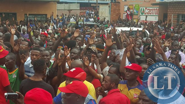 Copperbelt residents at a UPND meeting