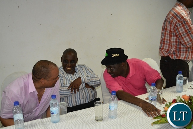 Davies Chama with Senior PF party Officials in Southern Province