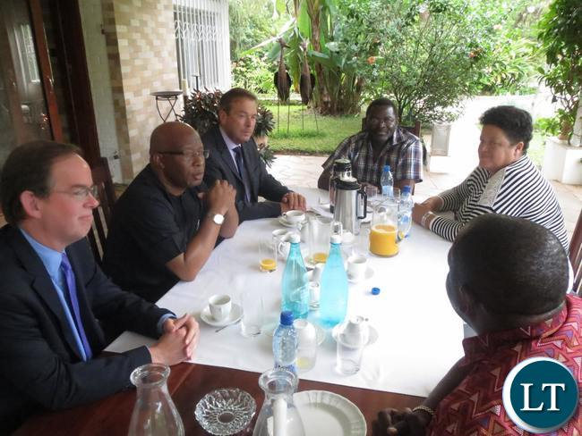 Discussions underway at Dr Mumba's residence with western envoys