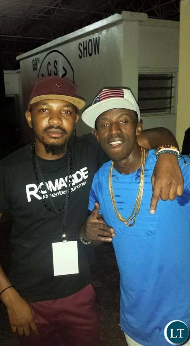 Dj Twizie with Chef 187 at the Zed Me Free Concert