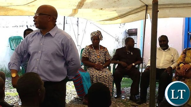 Nevers Mumba Speaking at the Mobilisation Event