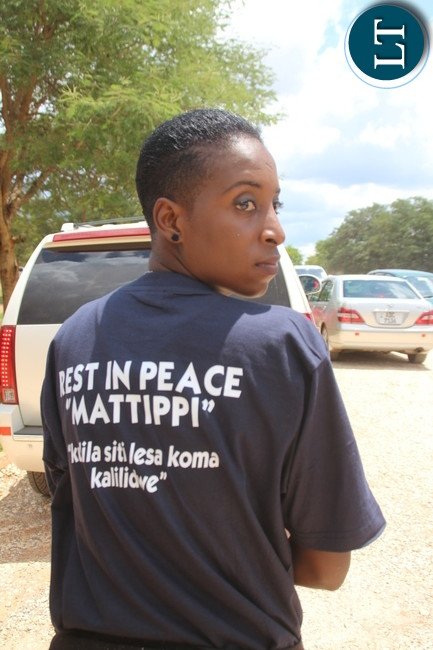"Kulilia sibalesa manje kalililwe"" message on a T-Shirt of one of 5 FM employees, Mattipi requested to celebrate his life rather than mourning him"