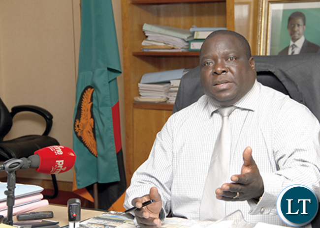 Chief Government Spokesperson Chishimba Kambwili