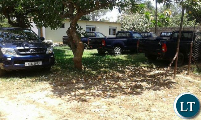Some of the 105 vehicles returned to MMD by the Government. The vehicles were confiscated when the MMD lost power in 2011