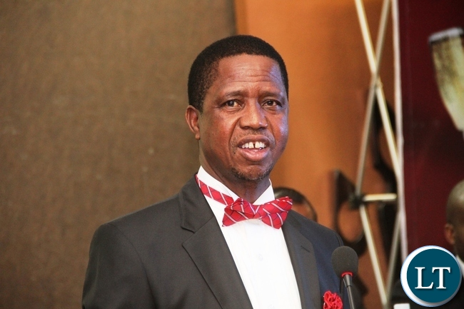 President Lungu during the first-ever Zambia Medical association annual ball and awards gala at Inter Continental Hotel in Lusaka on Saturday, December 19,2015 -Picture by THOMAS NSAMA