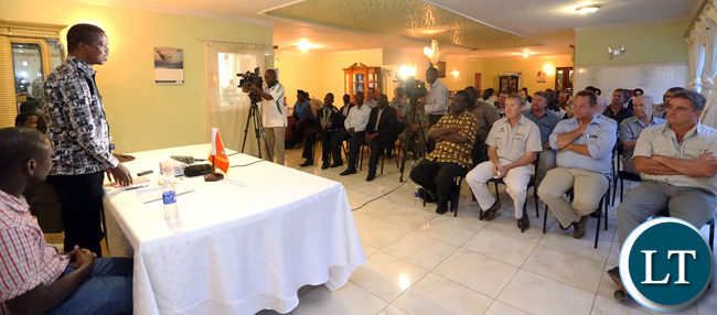 President Edgar Lungu Addressing Mkushi Commercial Farmers on Tuesday Night in Mkushi, The President is Visiting three Districts of Central Province, Luano , Mkushi and Serenje Inspecting developmental Projects..PICTURE BY EDDIE MWANALEZA/STATEHOUSE..