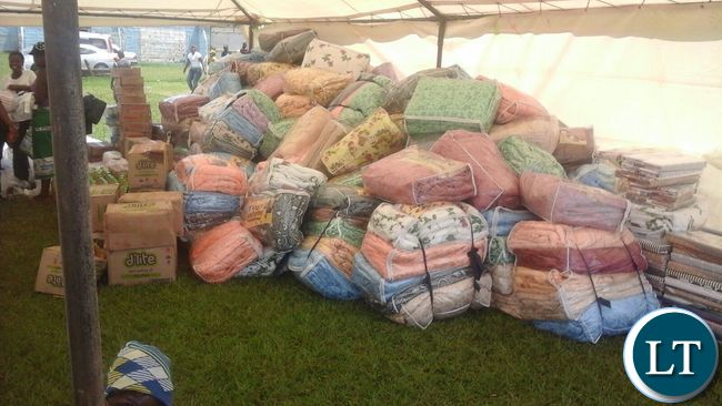Some of the duvets ready for distribution