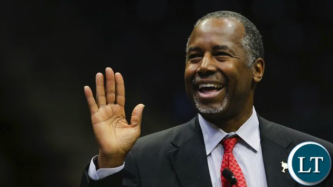 US Republican presidential candidate Ben Carson