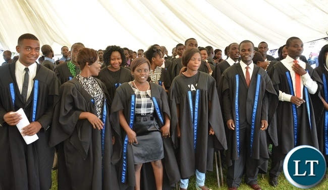 Students at Lusaka Resource Center graduates at Lusaka youth resource center,