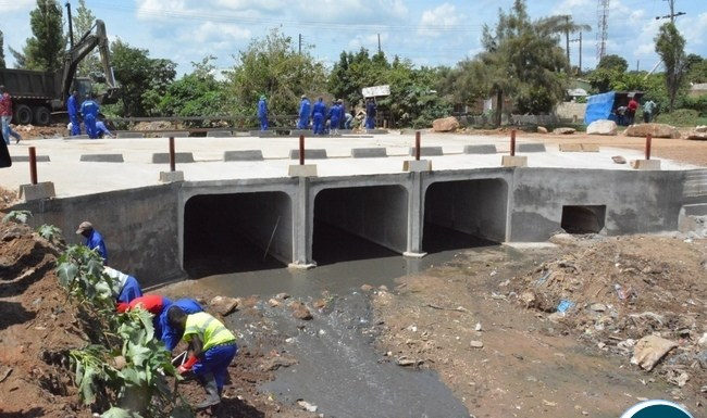Chunga bridge in Matero under construction