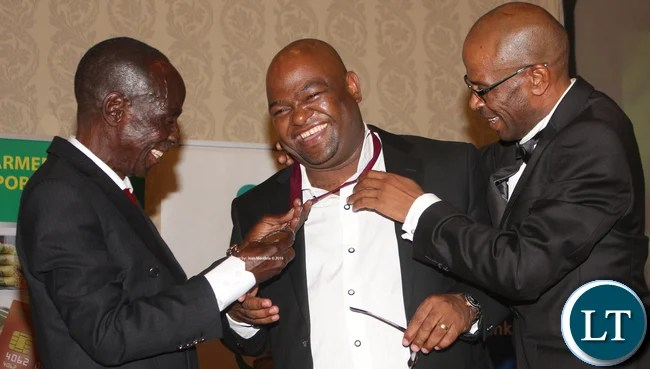 "Amon Jere being awarded for serving as Chairman of N""cwala Cermony chariman 2006- 2008 during the time he initiated the construction of a modern laweni (residence of Inkosi yama Nkosi during the N'cwala Ceremony) among others."
