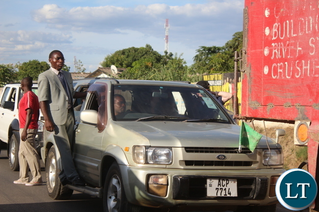 The NRP President Cosmo Mumba spotted along the North Road (Chaisa) level