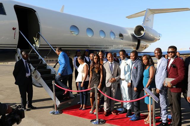 Prophet Bushiri enters his jet